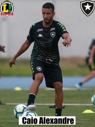 CAIO ALEXANDRE - 5,0 - Sumido, o volante não conseguiu organizar a saída de bola do Botafogo e pouco contribuiu na armação das jogadas.