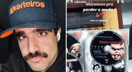 Ator mostrou oito DVDs da franquia de terror