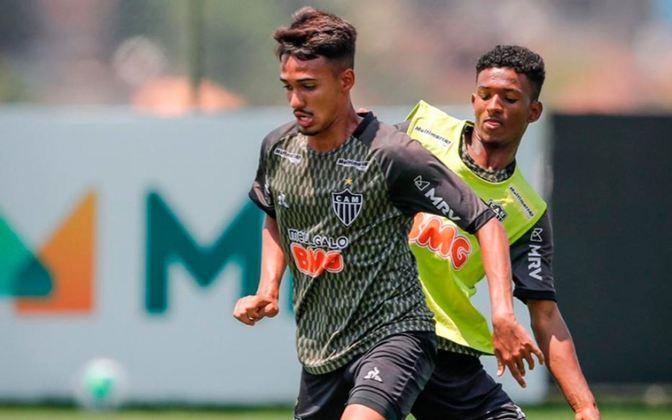 Caio Ribas - Atlético-MG - Meia - 16 anos: O meia já realizou alguns treinos com o elenco principal e recentemente assinou seu primeiro contrato profissional, com multa rescisória na casa de 50 milhões de euros (quase R$ 337 milhões). Caio é a grande joia da base do Galo