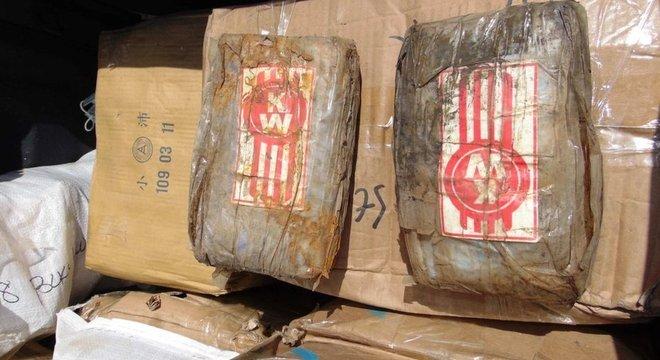 O carregamento de drogas encontrado tem um valor estimado de mais de R$ 400 milhões