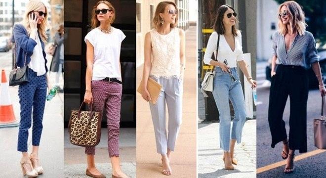 A calça cropped é muito versátil e pode aparecer tanto nas ocasiões mais casuais quanto nas mais formais,
