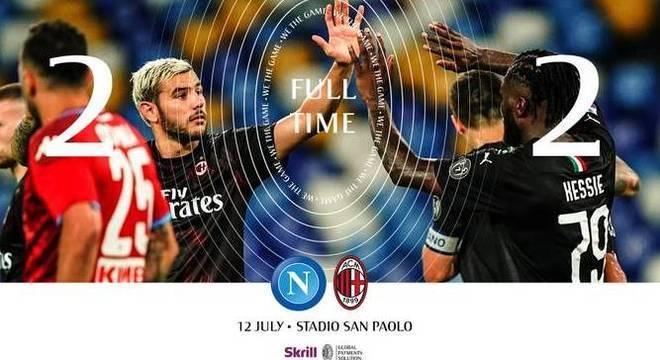 O resultado final do duelo de Nápoles
