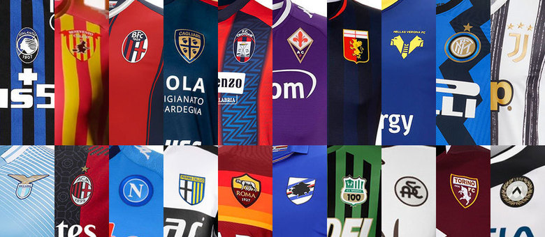 Os vinte clubes da Serie A 2020/2021