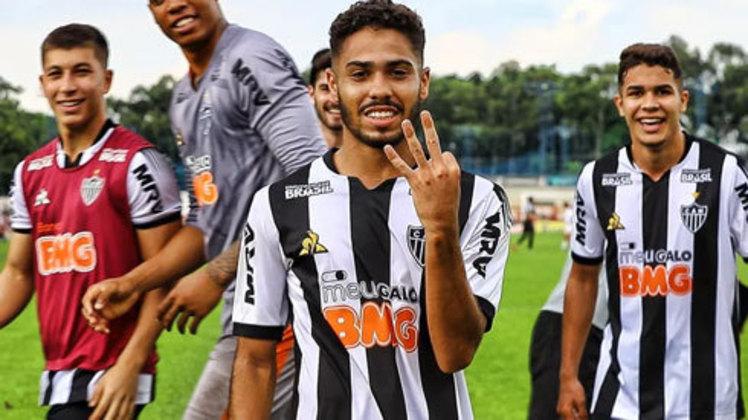 Calebe: meio-campista do Atlético-MG, 20 anos, contrato até fevereiro de 2021. Entrou no decorrer de duas partidas do Brasileirão