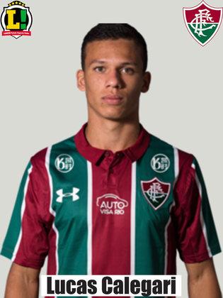 CALEGARI - 5,5 - Teve trabalho para marcar Bruno Nazário e sofreu na marcação. No entanto, foi se recuperando aos poucos e contribuiu no apoio pelos lados.