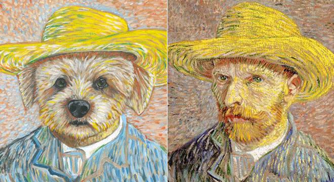 Vira-lata Fedelha reproduz obra de Vincent Van Gogh