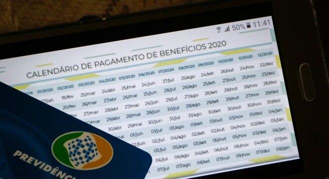 Calendário de 2020 para pagamento dos benefícios está no site do INSS
