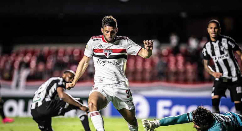 São Paulo e Ceará ficaram no empate, nesta quinta-feira, no Morumbi