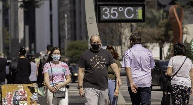 Temperatura já havia sido registrada em setembro e outubro na capital