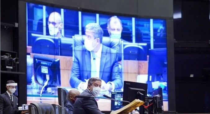 Presidente da Câmara, Arthur Lira (PP- AL), durante votação na Câmara