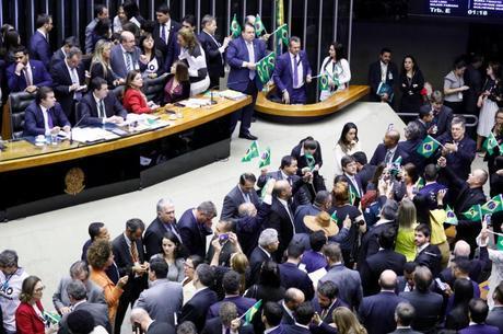 Plenário da Câmara na sessão da reforma