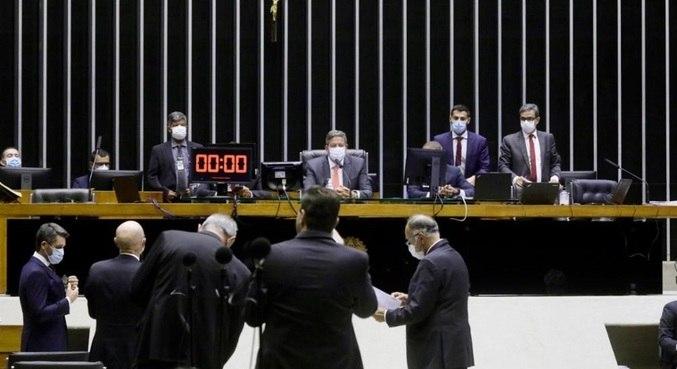 Presidente da Câmara, deputado Arthur Lira (PP - AL), durante sessão