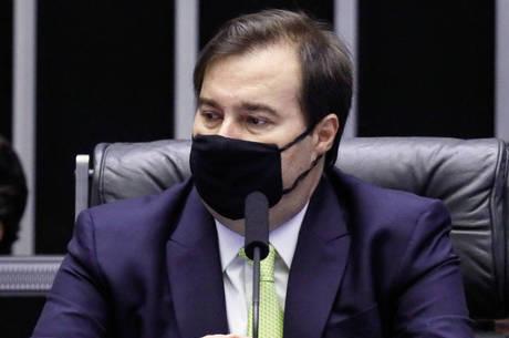 Na imagem, presidente da Câmara, Rodrigo Maia (DEM-RJ)