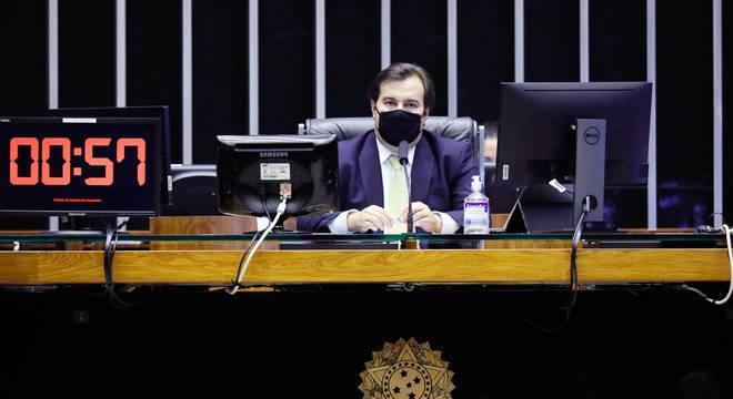 Presidente da Câmara dos Deputados, Rodrigo Maia (DEM - RJ), em sessão