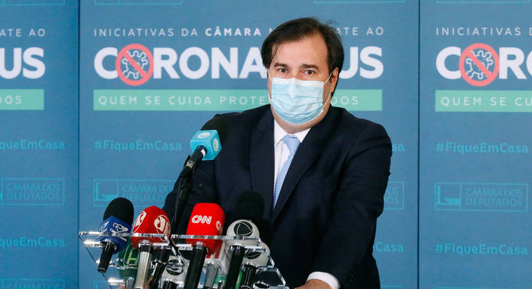 Presidente da Câmara dos Deputados, dep. Rodrigo Maia, concede entrevista coletiva sobre eleição na Casa