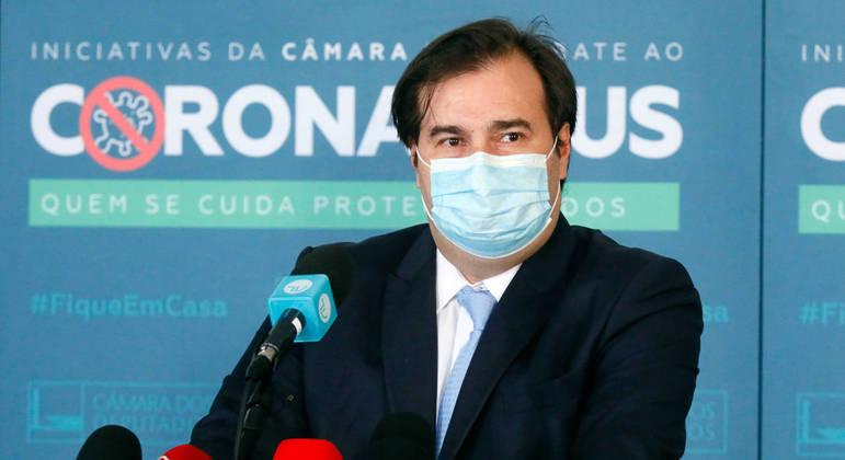 Presidente da Câmara dos Deputados, dep. Rodrigo Maia, concede entrevista coletiva sobre a atividade legislativa durante a crise causada pelo coronavírus Michel Jesus/Câmara dos Deputados