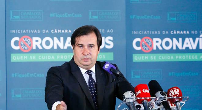 O presidente da Câmara, Rodrigo Maia, que defende a extensão do incentivo