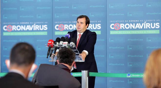 O presidente da Câmara dos Deputados, deputado Rodrigo Maia
