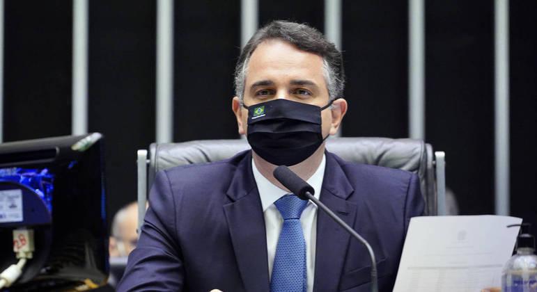 Pacheco durante sessão do Senado