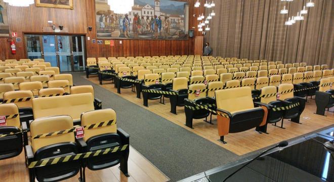 Ocupação máxima dos auditórios será de 20% da capacidade
