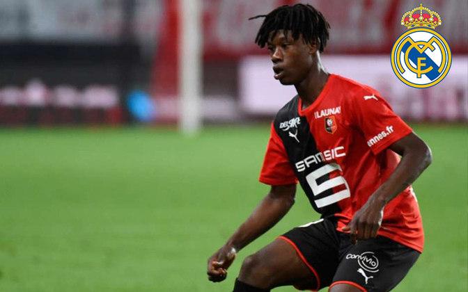 Camavinga. Posição: Meia. Idade: 17 anos. Clube atual: Rennes. Clube interessado: Real Madrid.