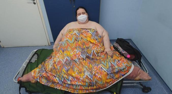 Com mais de 300 quilos, Rogélia não perde as esperanças de perder peso