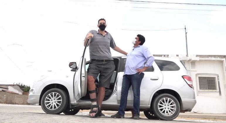 Joelison Fernandes da Silva, conhecido como Ninão, terá que amputar parte da perna direita