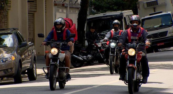 Houve aumento de 20% no número de entregadores em São Paulo durante a pandemia