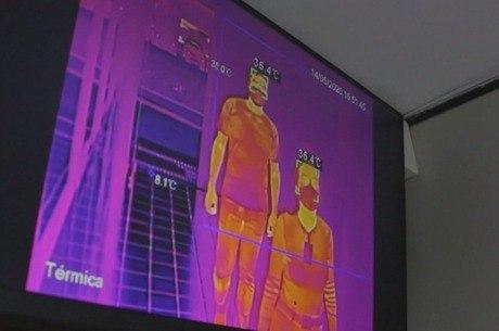 Câmeras termográficas dão temperatura exata de cada pessoa
