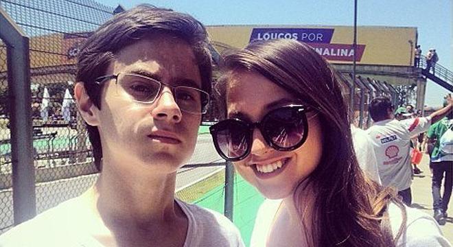 Rafael Miguel com a irmã, Camila
