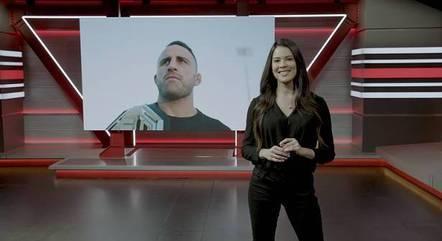 Camila Oliveira no estúdio do UFC