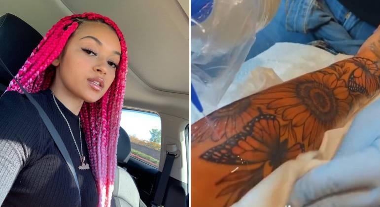 Camilly Victoria diz que pagou R$ 7,1 mil em tatuagem