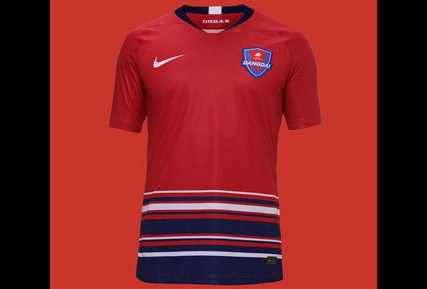 Camisa 1 do Chongqing Dangdai Lifan - Time de Fernandinho, Marcelo Cirino e Alan Kardec