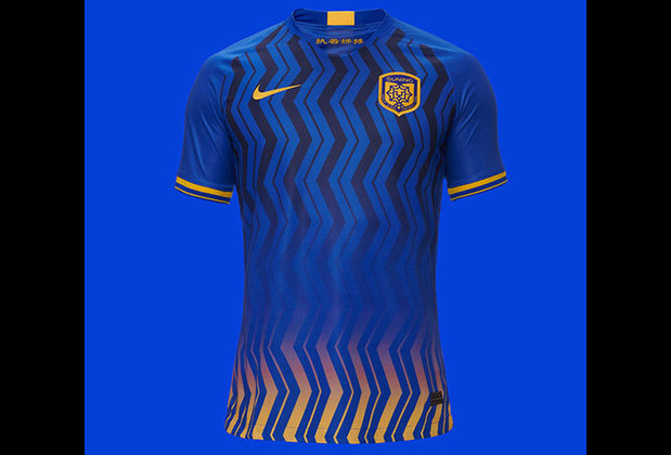 Camisa 1 do Jiangsu Suning - Time de Miranda e Alex Teixeira