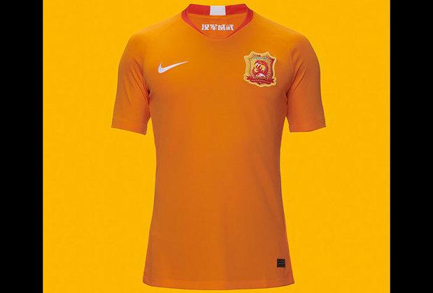 Camisa 1 do Wuhan Zall - Time de Leo Baptistão