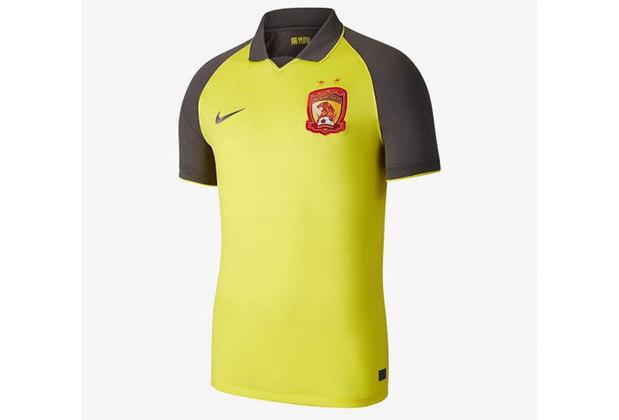 Camisa 2 do Guangzhou Evergrande - Time de Paulinho, Anderson Talisca, Ricardo Goulart, Elkeson e Aloísio - Campeão da Superliga Chinesa 2019