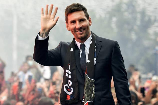 Camisa 30: Lionel Messi (atacante - 34 anos - argentino) - Valor de mercado: 80 milhões de euros (R$ 490,4 milhões)
