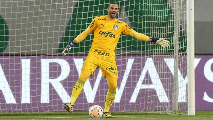 Camisa amarela foi a mais usada por Weverton ao longo da temporada de 2020.