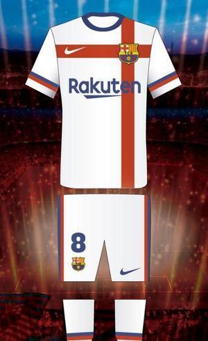 a4a162176a Imagem do uniforme branco sugerido pela Nike ao Barcelona