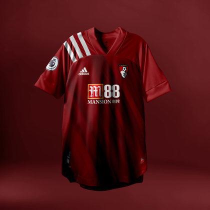 Camisa do Bournemouth com Adidas (fornecedora atual: Umbro)