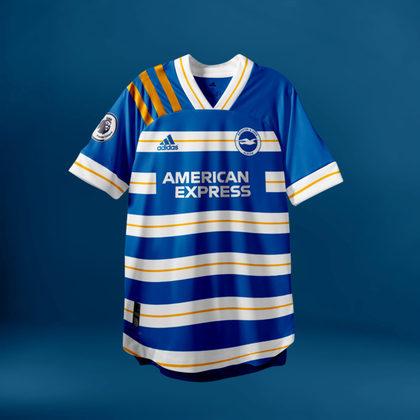 Camisa do Brighton com Adidas (fornecedora atual: Nike)
