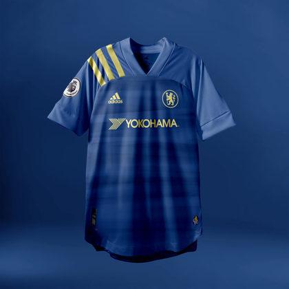 Camisa do Chelsea com Adidas (fornecedora atual: Nike)