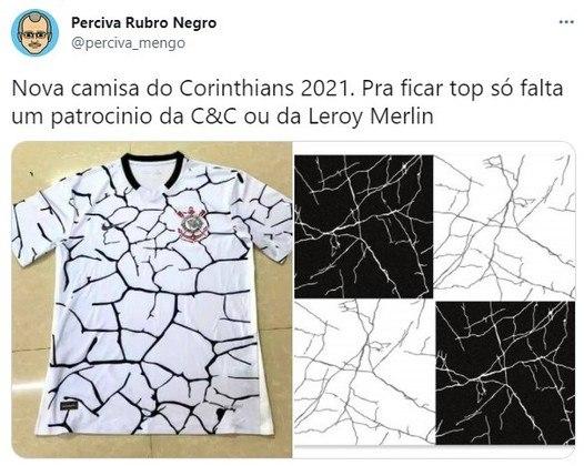 Camisa do Corinthians para a temporada 2021 foi comparada a pisos e rachaduras (Maio/2021)