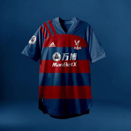 Camisa do Crystal Palace com Adidas (fornecedora atual: Puma)