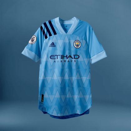 Camisa do Manchester City com Adidas (fornecedora atual: Puma)