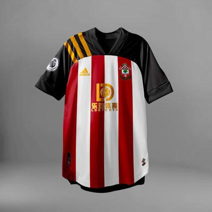 Camisa do Southapton com Adidas (fornecedora atual: Under Armour)
