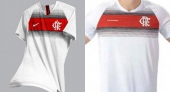 Comparação entre modelo do designer (à esquerda) e a comercializada pelo clube (à direita)