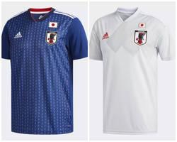 15f42f7059 Detalhes nos ombros  A fornecedora da seleção do Japão escolheu azul escuro  para a camisa titular com padrões utilizados ...