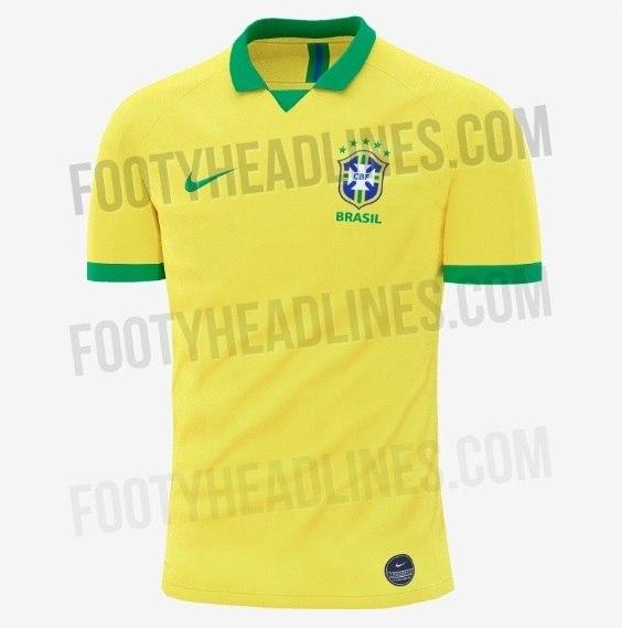 b2111d5defebc Site vaza camisa que será usada pela seleção brasileira em 2019 - Esportes  - R7 Futebol