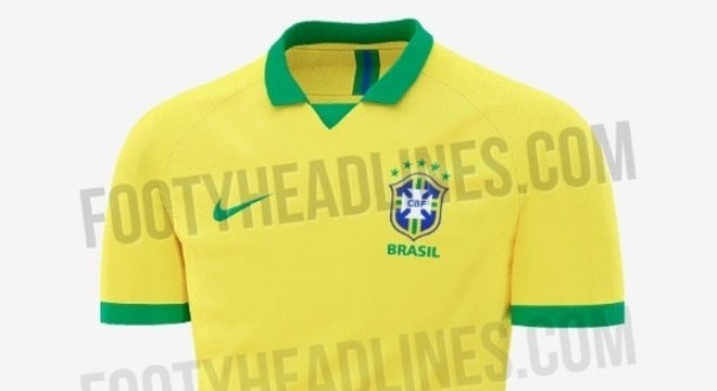 c8dda0737045e Site vaza camisa que será usada pela seleção brasileira em 2019 ...